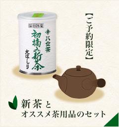 新茶とオススメ茶用品のセット